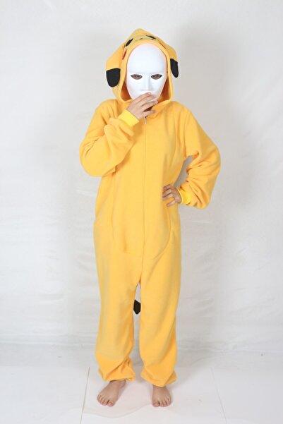 yüsü kostüm evi Yetişkin Pikachu Kostümü Rahat Pijama Kostümü