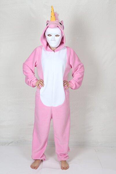 yüsü kostüm evi Yetişkin Unicorn Kostümü Hayvan Kostümü Rahat Pijama Kostümü
