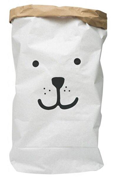 BugyBagy Sevimli Köpek Açık Göz Paperbag Dekoratif Çamaşır ve Oyuncak Sepeti Saklama Kutusu