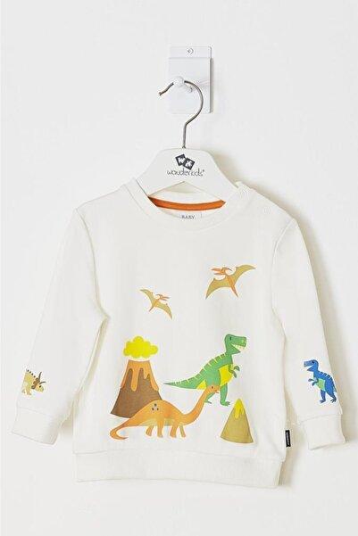 Wonder Kıds Erkek Bebek Ekru Sweatshirt Wk19aw1102-e