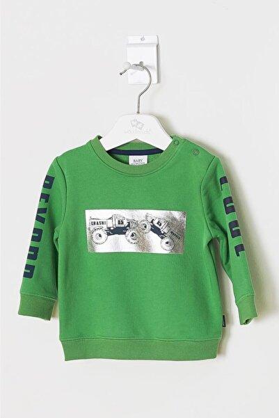 Wonder Kıds Erkek Bebek Yeşil Sweatshirt Wk19aw1104-y