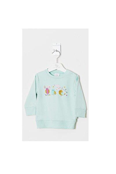 Wonder Kıds Kız Bebek Mint Yeşili Sweatshirt Wk19aw1004-a