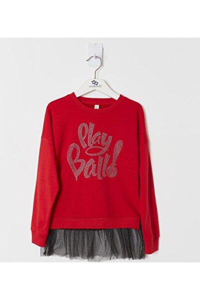 Wonder Kıds Kız Çocuk Kırmızı Sweatshirt WK19AW1411