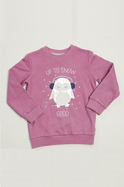 Wonder Kıds Kız Çocuk Lila Uzun Kollu Sweatshirt Mk20aw4014-l