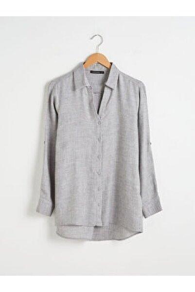 Kadın Gri Gömlek
