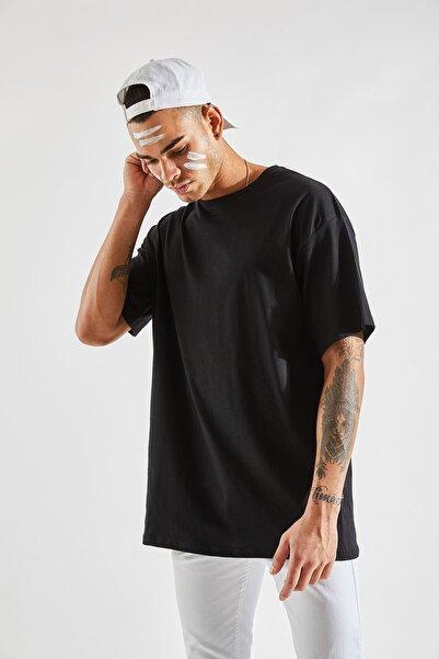 Zafoni Erkek Oversize Siyah Tişört