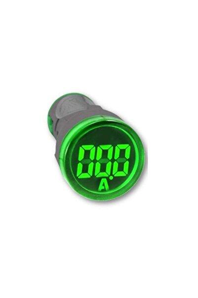 TORK Ledli Ampermetre Digital Ekranlı Ø22 -100v Yeşil