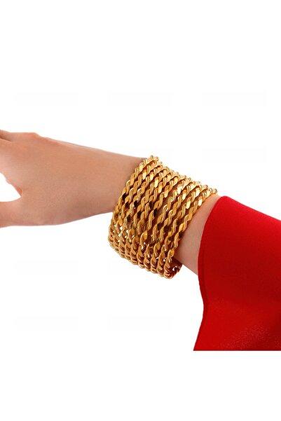 Yıldız Gold İmitasyon 22 Altın Kaplama 2 Li Adana Burma Bilezik