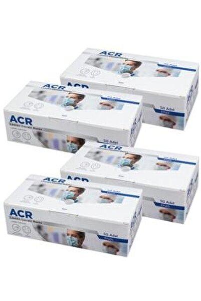 Üretici Firma (mavi) 3 Katlı Medikal Yüz Maskesi - 200 Adet 4 Kutu