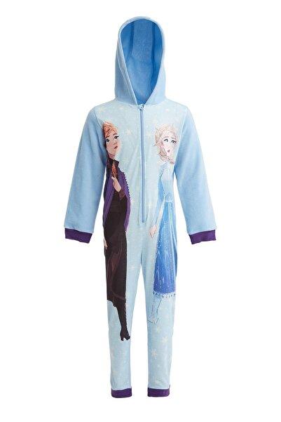 DeFacto Kız Çocuk Frozen 2 Lisanslı Tulum Pijama