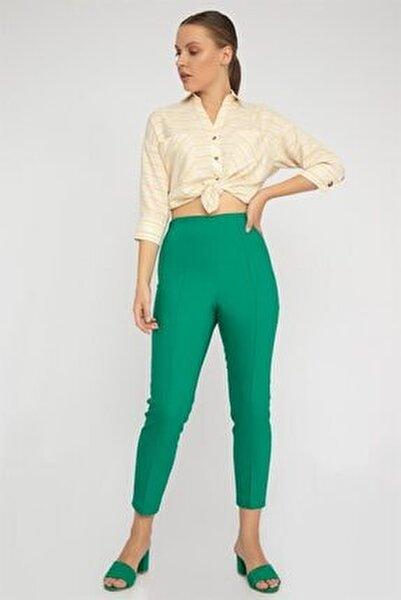 Nervürlü Streç Pantolon