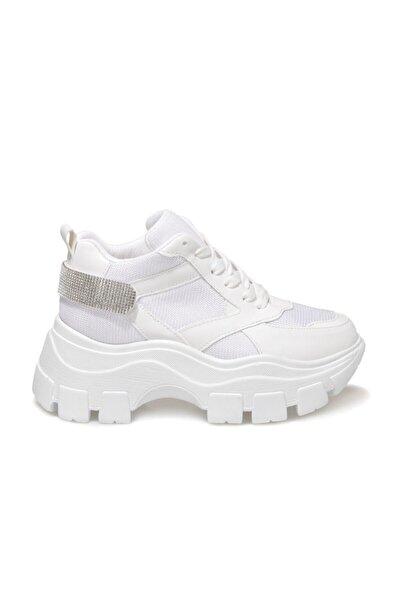 Butigo Kadın Beyaz Brad Sneaker  Ayakkabı
