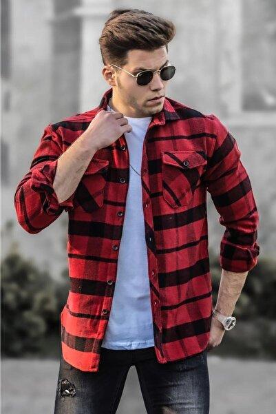 Madmext Erkek Kırmızı Oduncu Gömlek