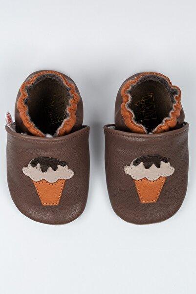 MODAPATİK Unisex Bebek Kakaolu Dondurma Deri Patik
