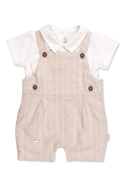 Babydola Erkek Bebek Salopet Tulum 2 Parça Keten Kumaş