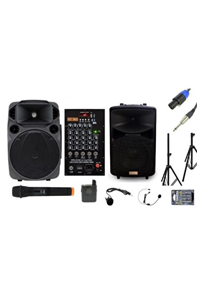 Provoice Vpx-15 Dcw 15'' 1200 Watt Aktif + 15'' 800 Watt Pasif Hoparlör Set