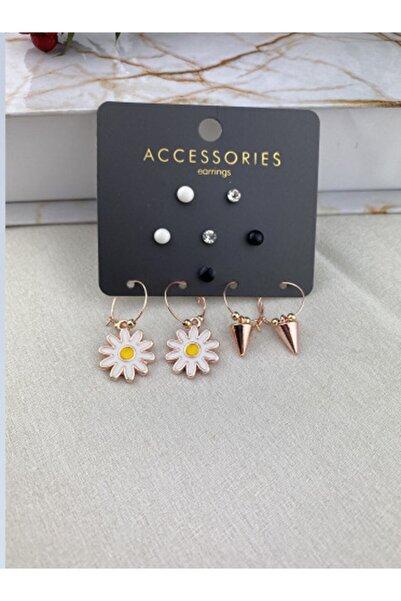Accessorize Kadın Takıntı Papatya Küpe Set