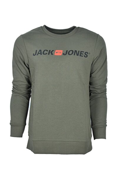Jack & Jones JJECORP OLD LOGO SWEAT CR Antrasit Erkek Sweatshirt 101016185