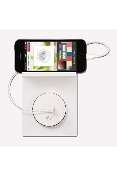 SCHNEIDER Odace Cep Telefonu Tutucu Çerçeve Beyaz