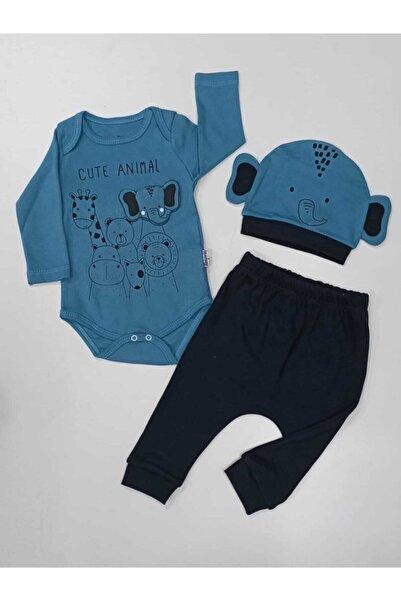 Miniworld Azragiyim Erkek Bebek Filli Üç Parça Badili Takım