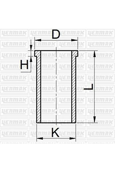 YENMAK 4ad. 51-65621-100 Motor Gomlek 1,00 Mm Mazda E2200