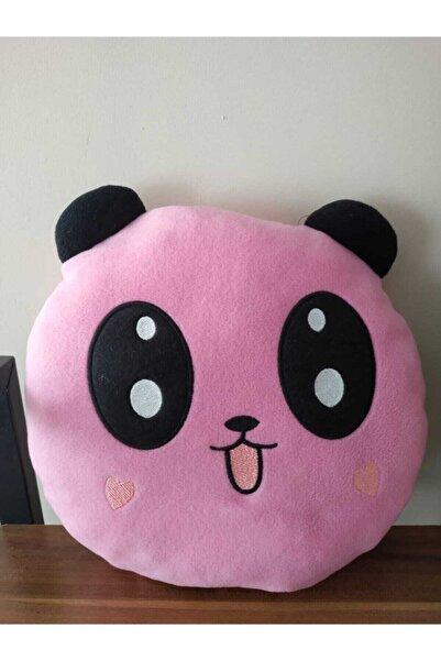 Panda Pembe Peluş Yastık