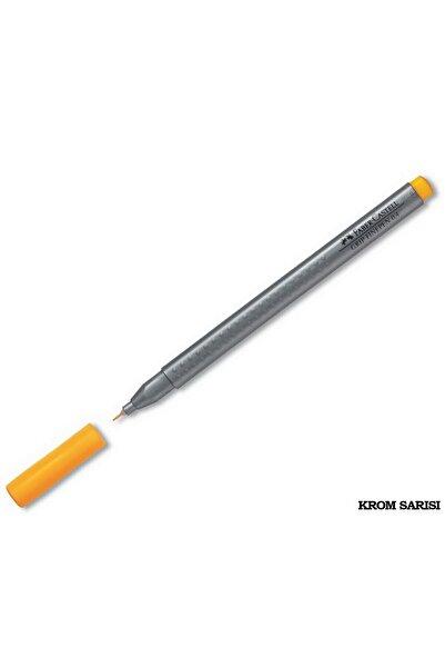 Faber Castell Faber-castell Grip Finepen Keçe Uç 0.4 Mm Krom Sarısı Tekli /