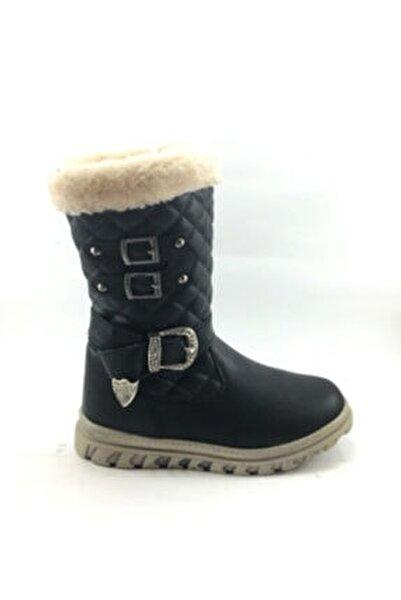 Kız Çocuk Içi Kürklü Siyah Bot Ayakkabı