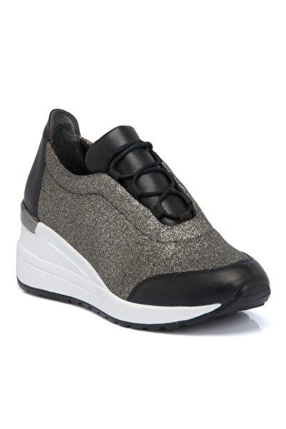 Tergan Siyah Tekstil Kadın Ayakkabı 64471d62