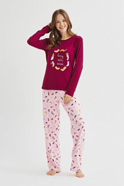 Penti Çok Renkli Fuzzy Termal Pijama Takımı