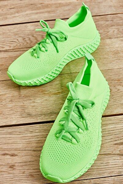 Bambi Yeşil/yeşil Kadın Sneaker L0816048882