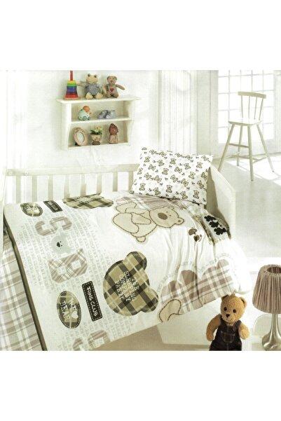 Taç Unisex Çocuk Kahverengi Brielle Bebek Nevresim Takımı