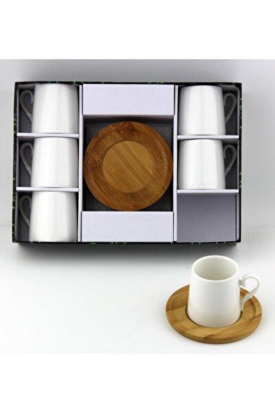 Lavin Porselen Bambu Tabak Kahve Fincan Takımı Yaldızlı 2554