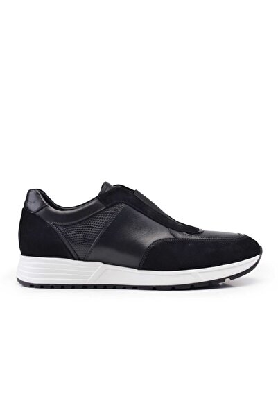 Nevzat Onay Hakiki Deri Siyah Sneaker Erkek Ayakkabı -11004-