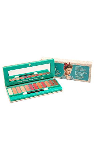 The Pink Ellys Eyeshadow Palette Metallic 12li