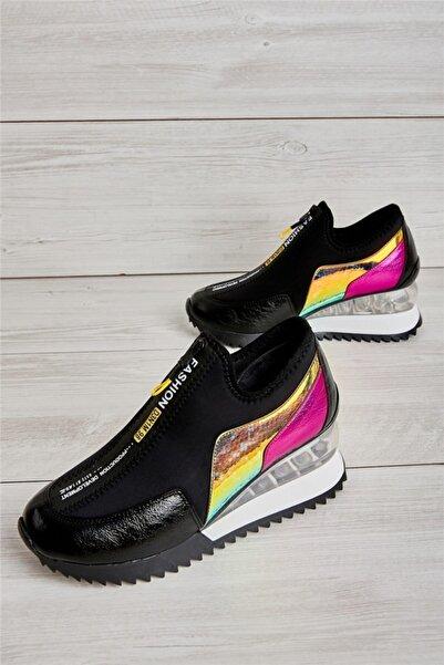 Bambi Siyah Kadın Sneaker