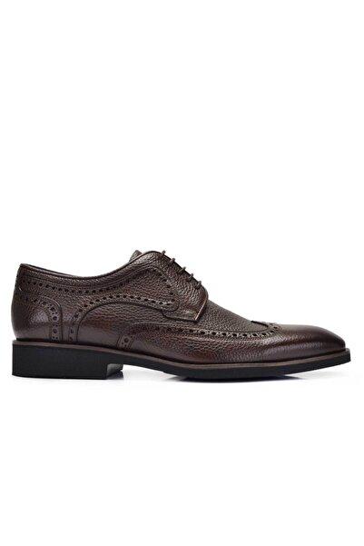 Nevzat Onay Hakiki Deri Kahverengi Günlük Bağcıklı Erkek Ayakkabı -11654-