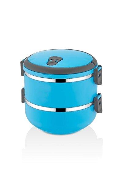time capsule 2 Li Sefer Tası Sızdırmaz Yemek Termosu Mavi 1,5 Lt