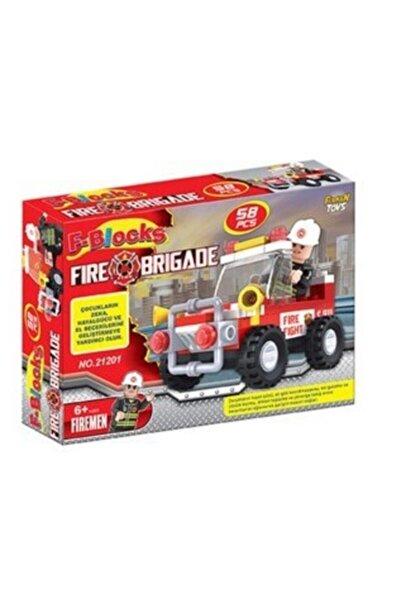 Furkan Toys 58 Parça F Blocks Itfaiye Seti
