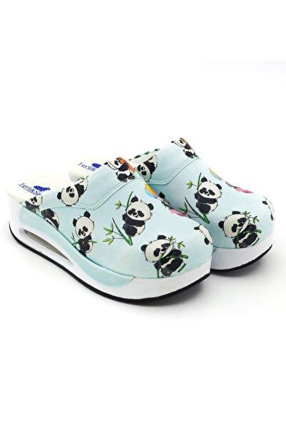 TERLİKSABO Panda Desenli Air Max Sabo Terlik