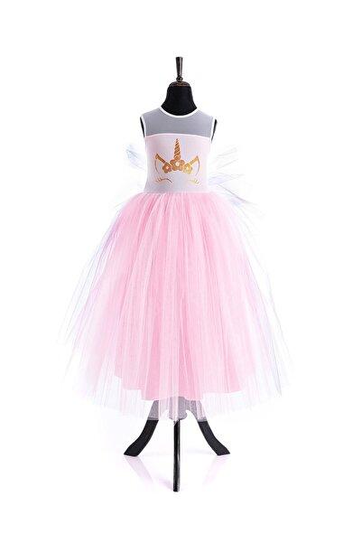Tameris Kostüm Pembe Unicorn Elbise Uzun Lady