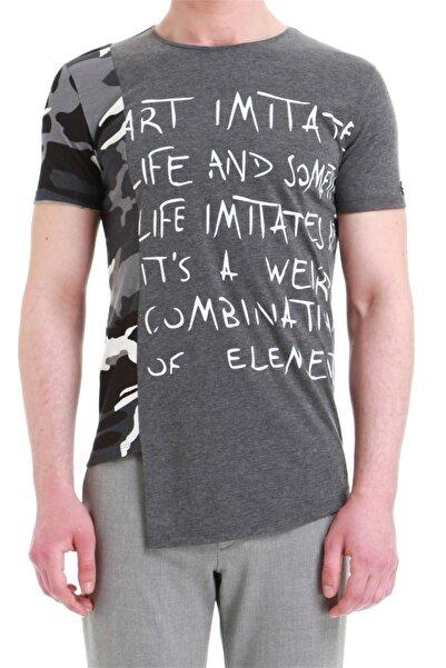 Efor Atş 013 Slim Fit Antrasit Spor T-shirt