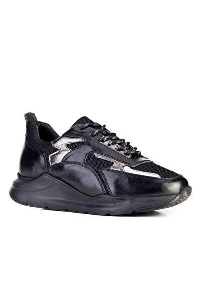 Cabani Priyanka C Özel Tasarım Light Taban Bağcıklı - Kadın Ayakkabı Siyah Antilop Deri