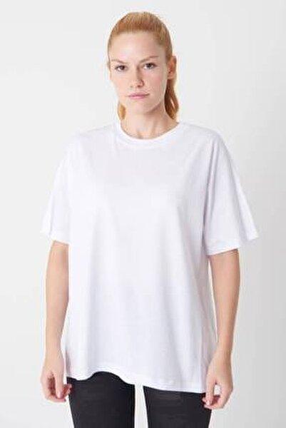 Kadın Beyaz Oversize Basic Tişört P0730 - J6 - J7 ADX-0000020569