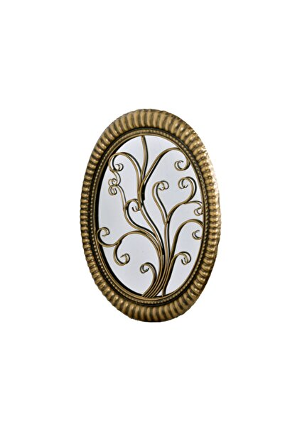 Lucky Art Antık Gold Oval Ayna 57 Cm