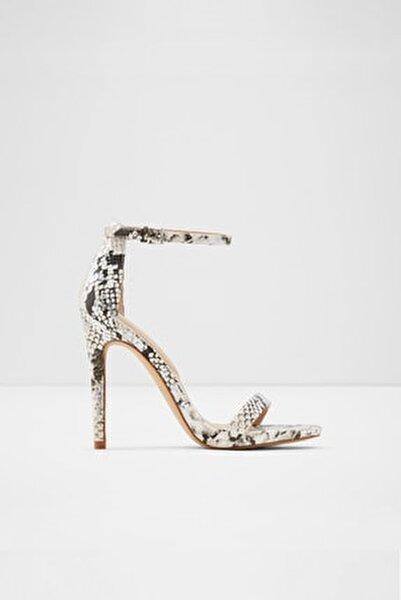 Caraa - Yılan Deseni Kadın Yüksek Topuklu Sandalet
