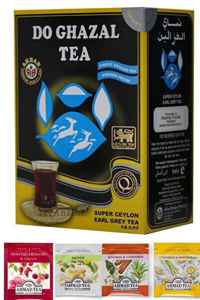 Do Ghazal Tea Gurmet Set Earl Grey Dökme Çay (500gr) - Herbal Tea (4 Adet)