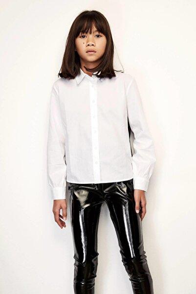 Patrizia Pepe Kız Çocuk Beyaz Gömlek