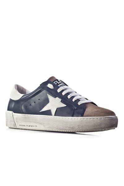 Cabani Flrs 055-fı Lux Özel Tasarım Yıldız Motifli Sneaker Kadın Ayakkabı Lacivert
