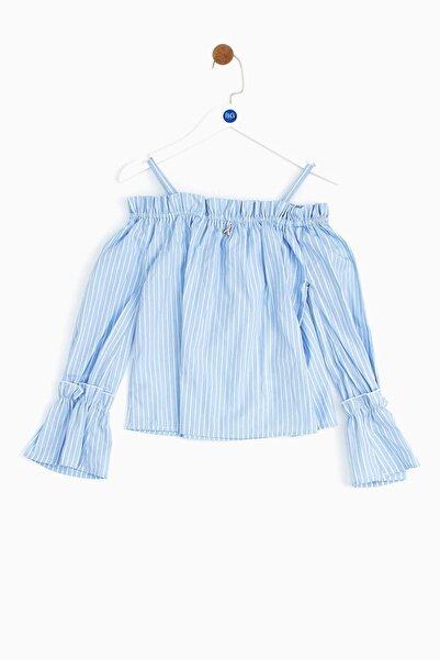 Patrizia Pepe Kız Çocuk Mavi Gömlek 19sspjfca07